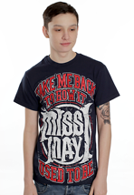 Miss May I - Red Take Me Back Navy - T-Shirt