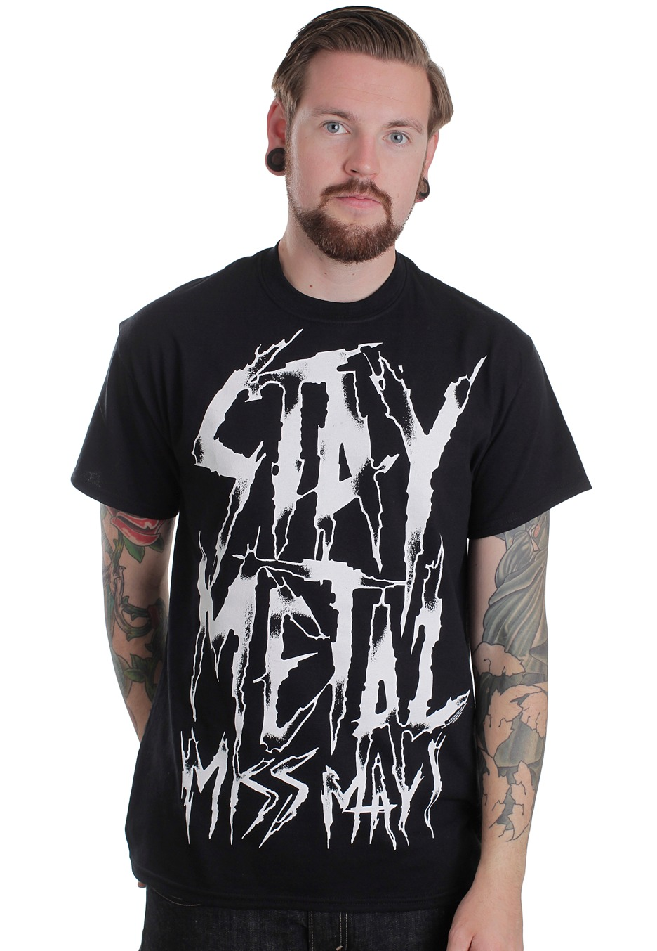 miss may i stay metal t shirt worldwide. Black Bedroom Furniture Sets. Home Design Ideas