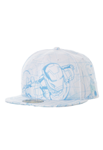 New Era - All Over Sketch Ironman 3 Official White - Cap