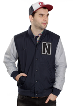 Nike - AD Letterman Dark Obsidian/Wolf Grey - College Jacket