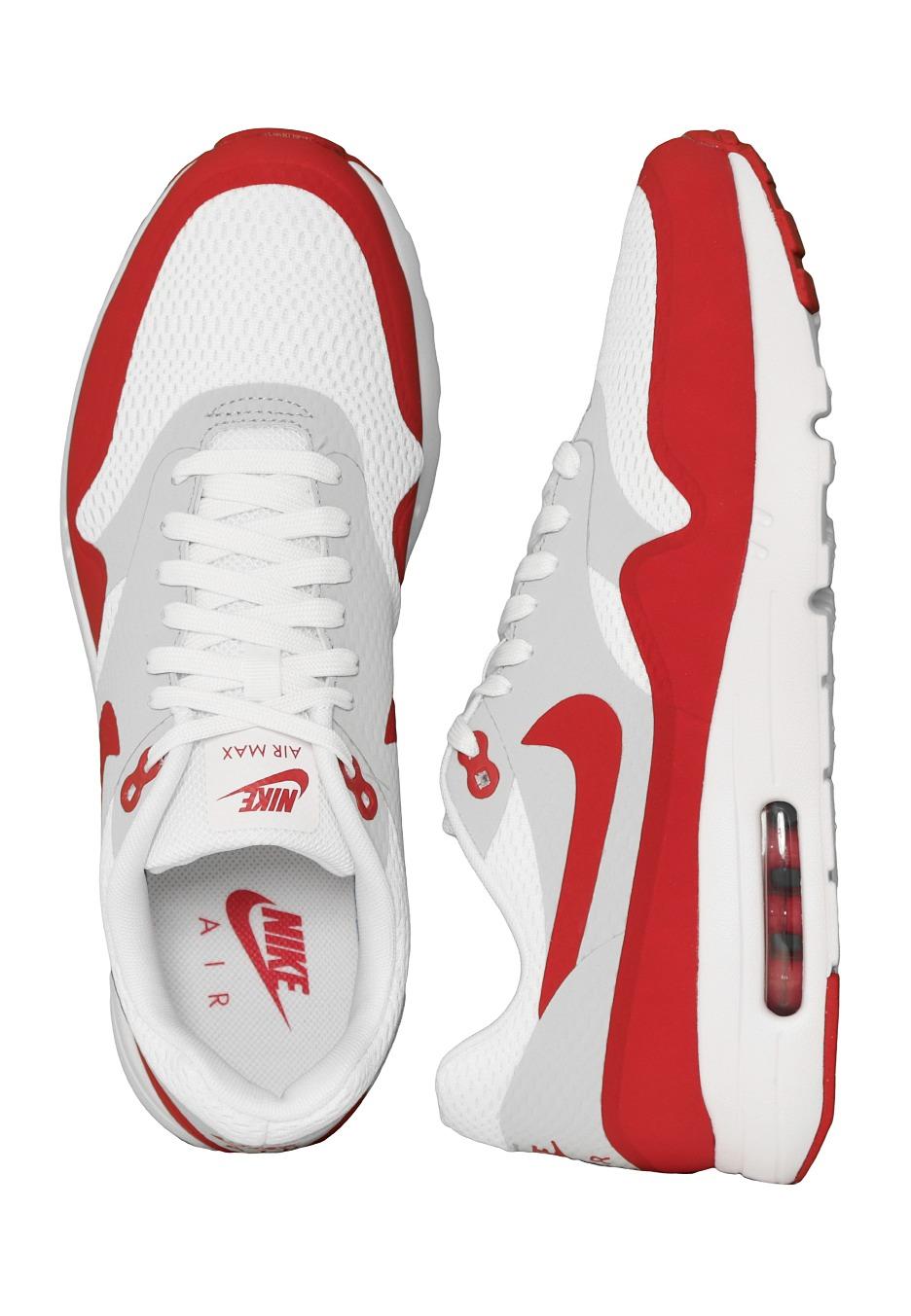 -18% Nike - Air Max 1 Ultra Essential White/Varsity Red/Neutral Grey/White