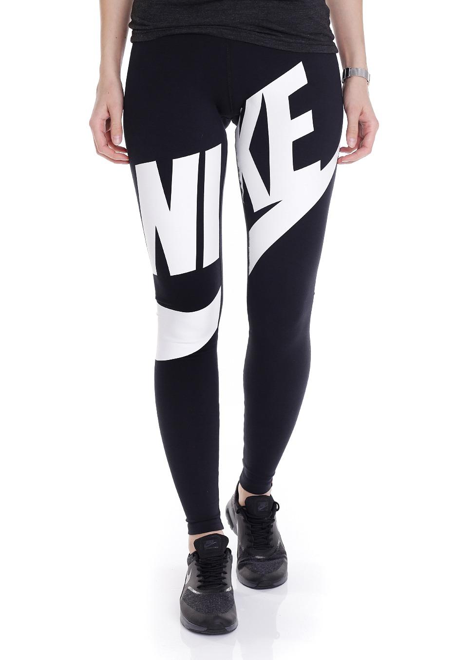 nike leg a see exploded black white leggings boutique streetwear fr. Black Bedroom Furniture Sets. Home Design Ideas