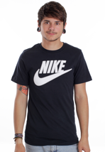 Nike - PL Futura Dark Obsidian/Dark Grey Heather/White - T-Shirt