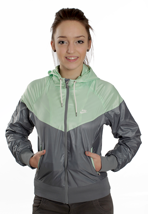 Nike - The Windrunner Cool Grey/Fresh Mint/Sail - Girl Jacket