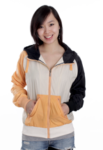Nikita - Ahu Black/Peach Cobbler/Whisper White - Girl Jacket