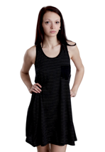 Nikita - Calf Jet Black/White - Girl Dress