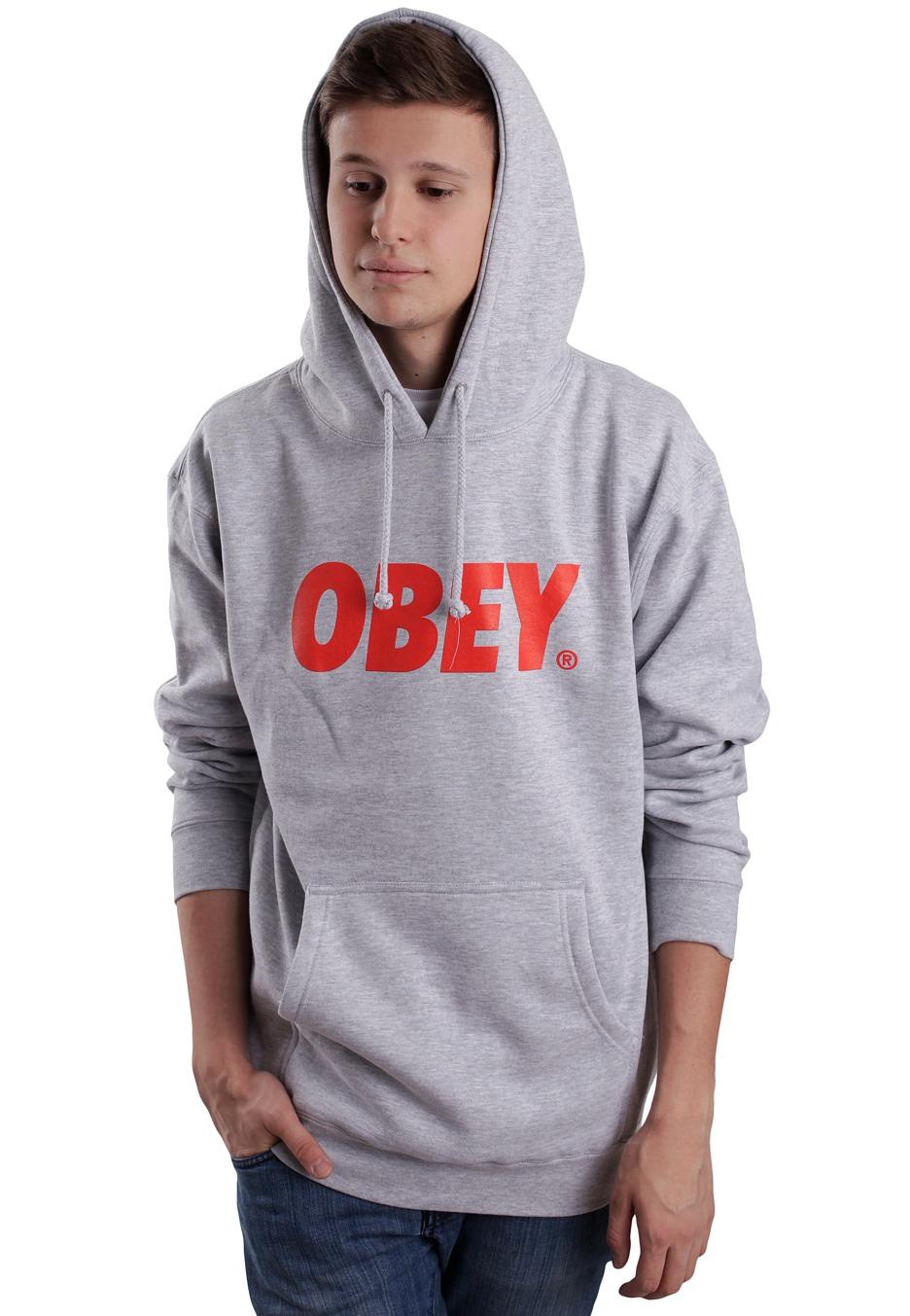 Obey hoodie red