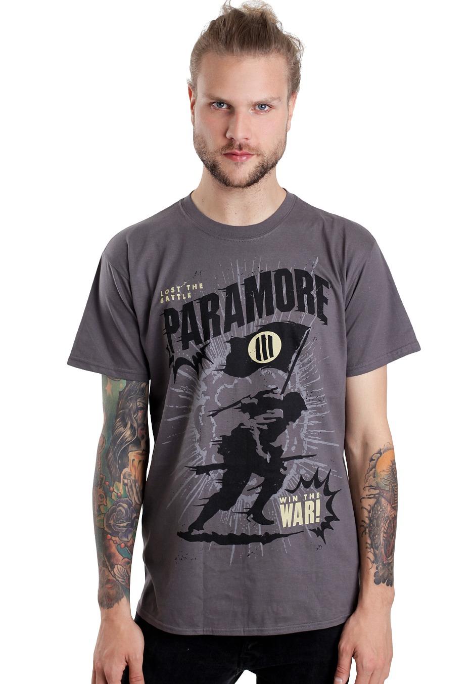 Paramore - Mine Field Heather Grey - T-Shirt - Official ... Paramore Mersch Nederland