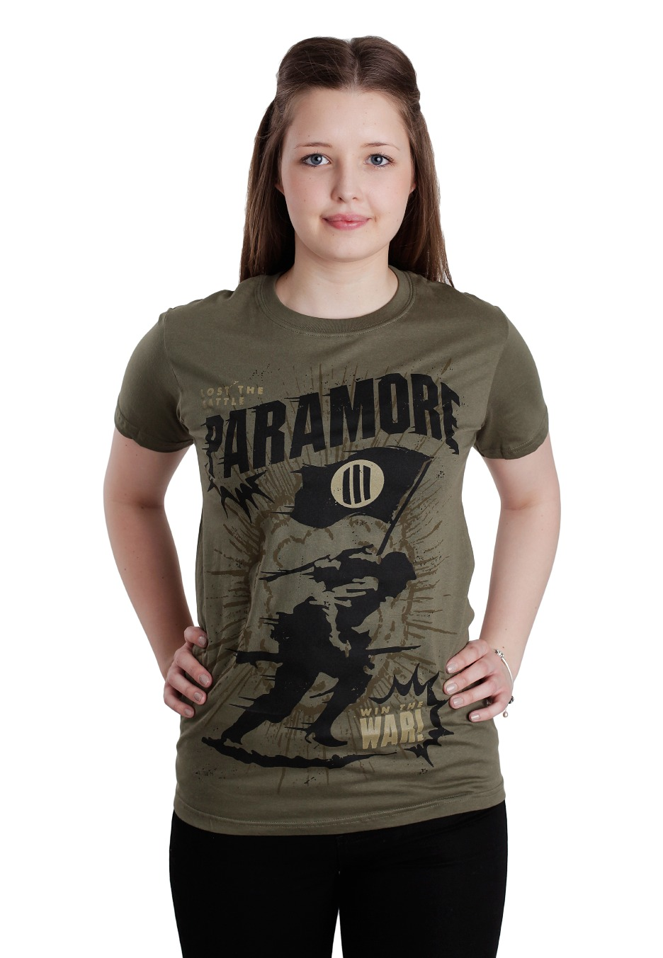 Paramore - Mine Field Military Green - T-Shirt - Official ... Paramore Nederland