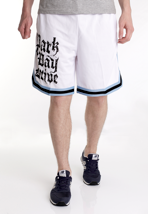 Parkway Drive - Stacked Logo Blue Striped White - Shorts