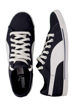 Puma - Benecio Canvas New Navy/Cloud Dancer - Shoes