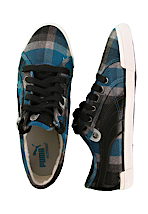 Puma - Corsica Plaid Deep Water/Black - Girl Shoes