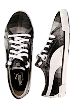 Puma - Corsica Plaid Silver/Birch White - Girl Shoes