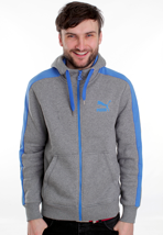 Puma - Hooded Sweat Medium Grey Heather - Zipper