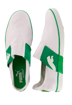 Puma - Lazy Slip-On White/Fern Green - Shoes