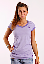 Puma - Logo Sweet Lavender - V Neck Girly