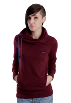 Ragwear - Lomo A Burgundy Melange - Girl Sweater
