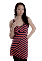 Ragwear - Lyre Red Stripes - Girl Dress