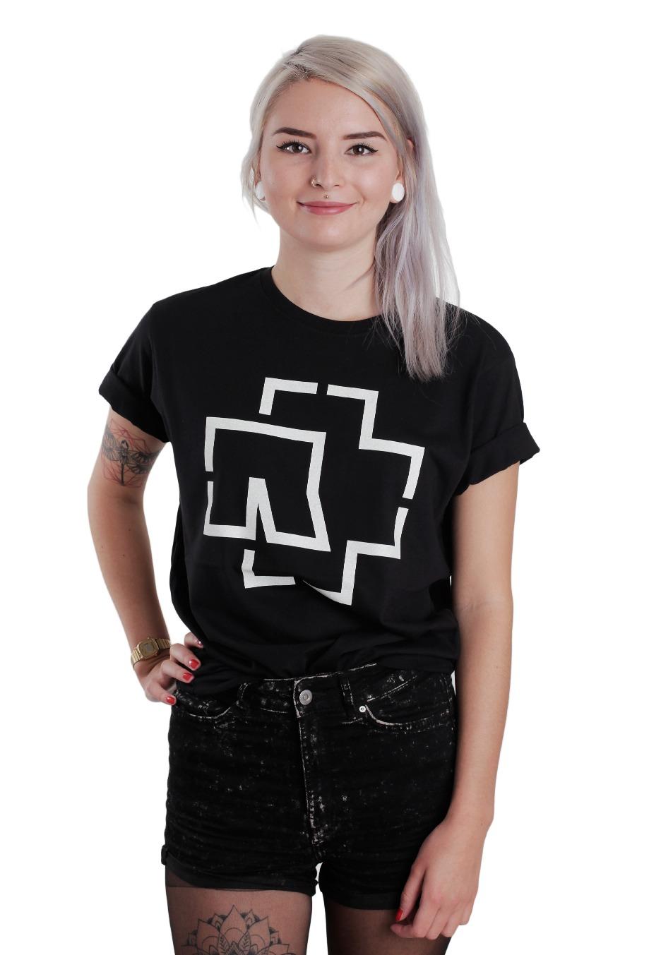 rammstein logo t shirt offizieller metal merchandise shop de. Black Bedroom Furniture Sets. Home Design Ideas
