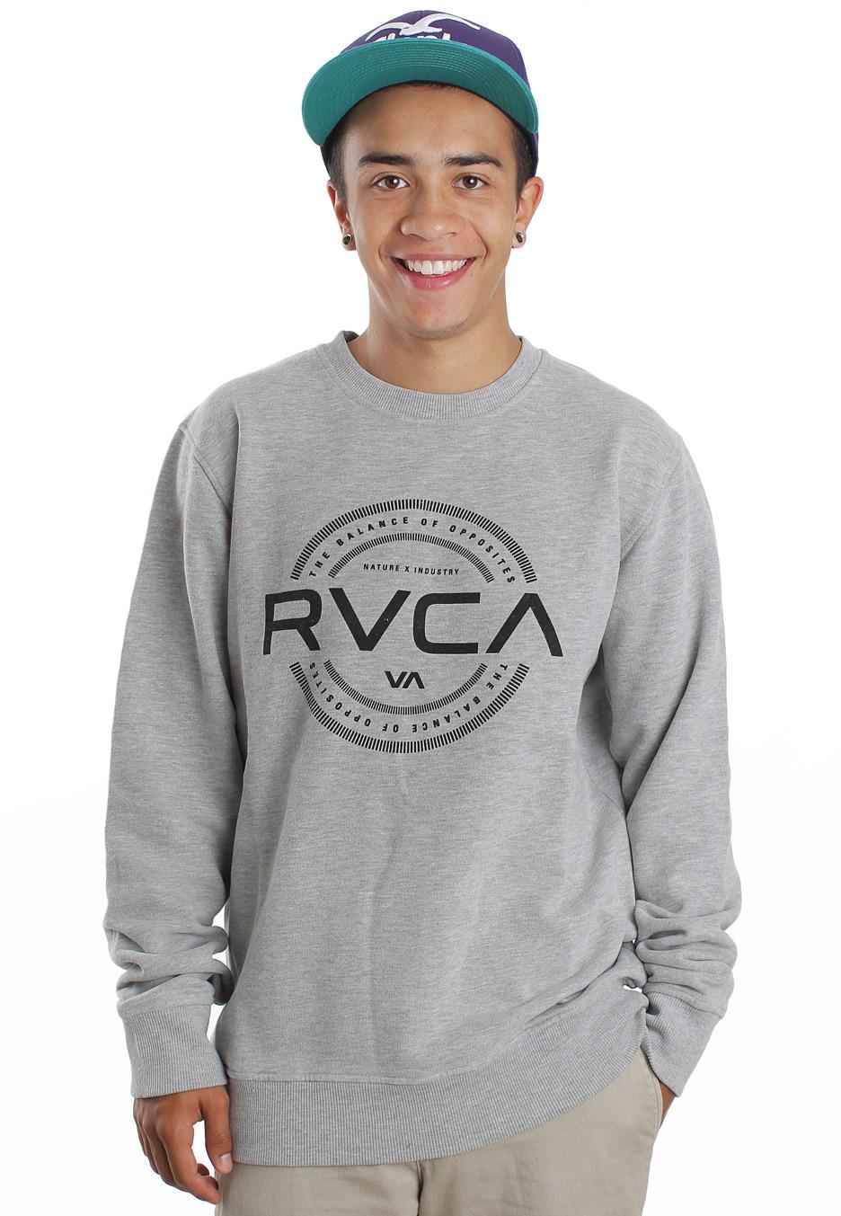 RVCA , Industry Stamp Grey Heather , Sweater , Tienda de marcas , Impericon.com ES
