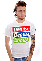 Your Demise - Stripes In Color White - T-Shirt