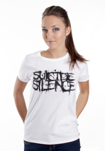 Suicide Silence - Pull The Trigger White - Girly