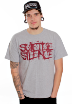 Suicide Silence - Red Pull The Trigger Sportsgrey - T-Shirt