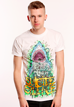 Suicide Silence - Shark White - T-Shirt