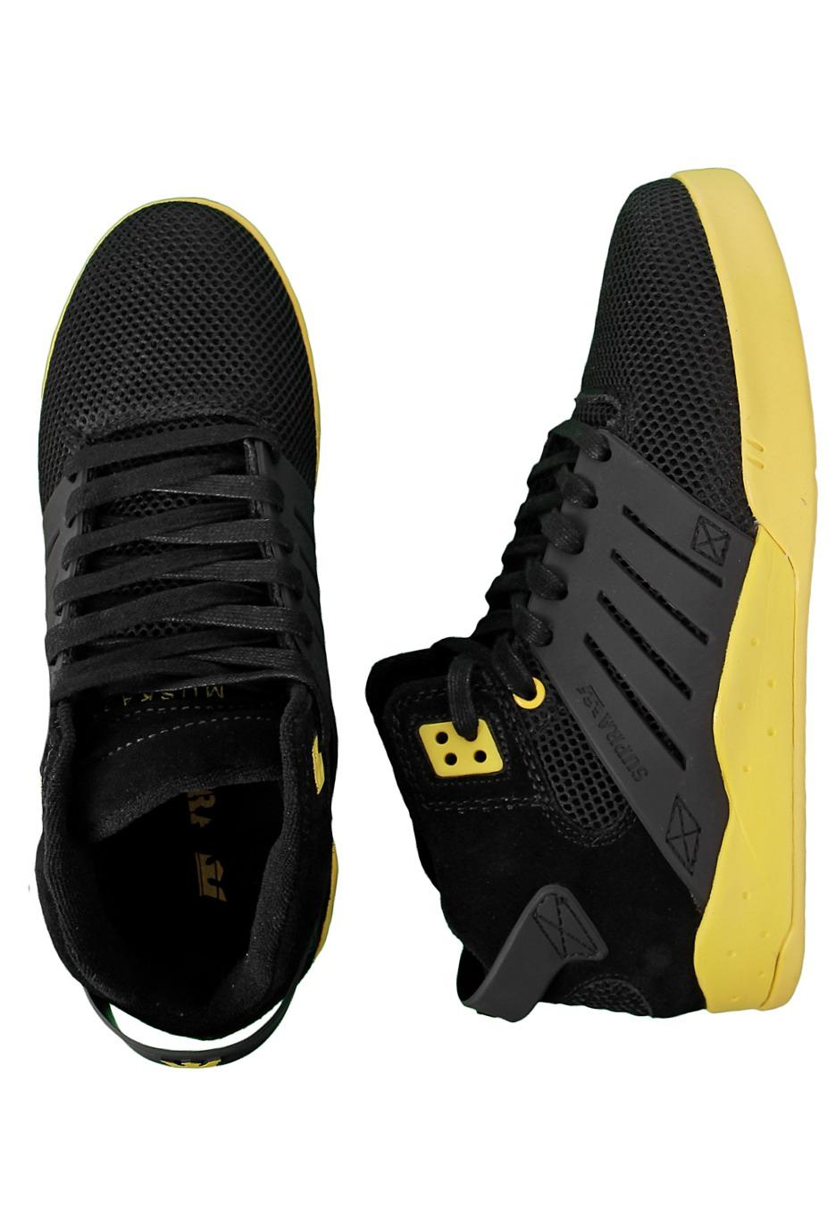 Supra - Skytop III Mid Black Mesh/Neon Yellow - Shoes ...