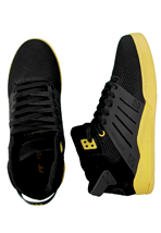Supra - Skytop III Mid Black Mesh/Neon Yellow - Shoes