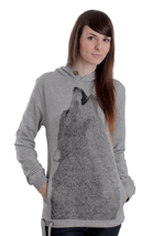 Supremebeing - Repose Lobo Luna Heather - Girl Hoodie