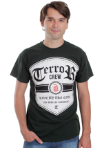 Terror - Shield Olive - T-Shirt