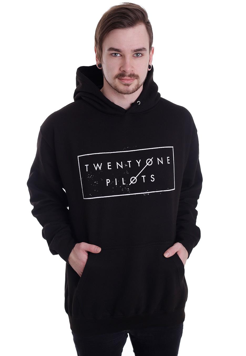 twenty one pilots thin line box hoodie official rap. Black Bedroom Furniture Sets. Home Design Ideas