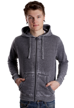 Urban Classics - Burnout Dark Grey - Zipper