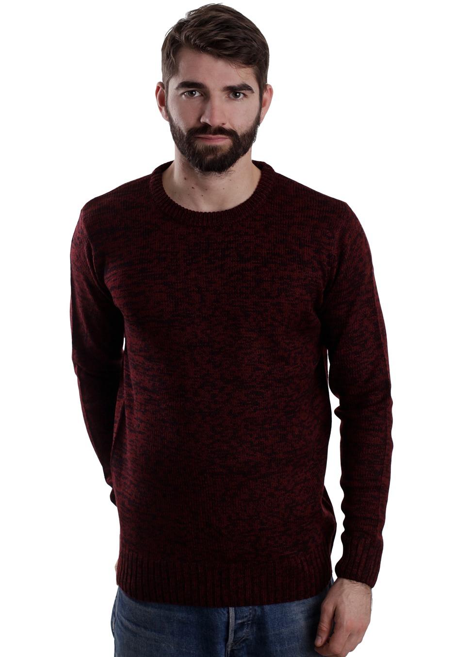 urban classics melange knitted black ruby pullover streetwear shop worldwide. Black Bedroom Furniture Sets. Home Design Ideas