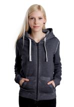 Urban Classics - Spray Dye Dark Grey - Girl Zipper