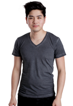 Urban Classics - Spray Dye Dark Grey - V Neck T-Shirt