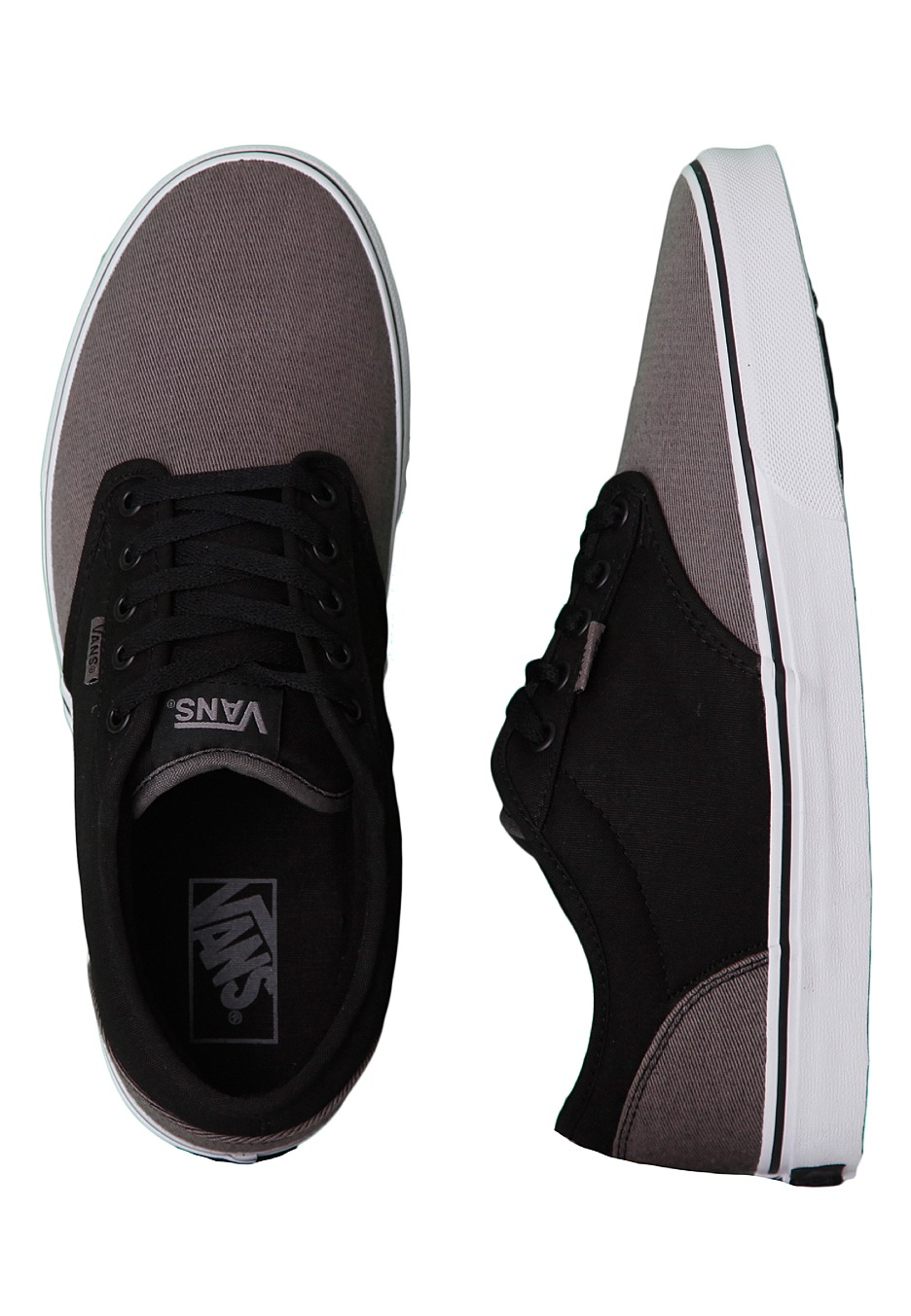 vans atwood canvas mix black grey shoes impericon