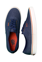 Vans - Authentic Denim Dark Blue/Marshmallow - Shoes