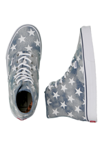 Vans - Authentic Hi Washed Denim Blue/Stars - Girl Shoes
