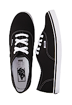 Vans - Authentic Lo Pro Black/True White - Girl Shoes