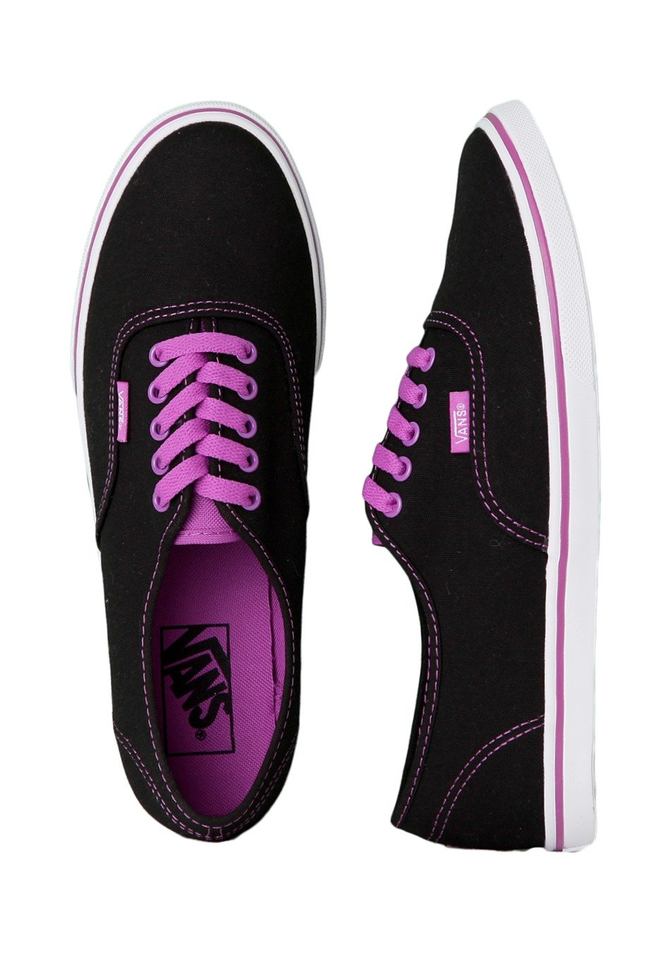 Vans - Authentic Lo Pro Neon Black/Purple - Girl Shoes ...