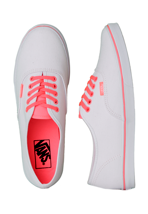 Vans - Authentic Lo Pro Neon Coral/True White - Girl Shoes
