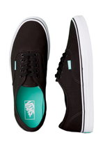 Vans - Authentic Pop Black/Aqua Green - Shoes