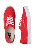 Vans - Authentic Slim Fiery Red/True White - Girl Shoes