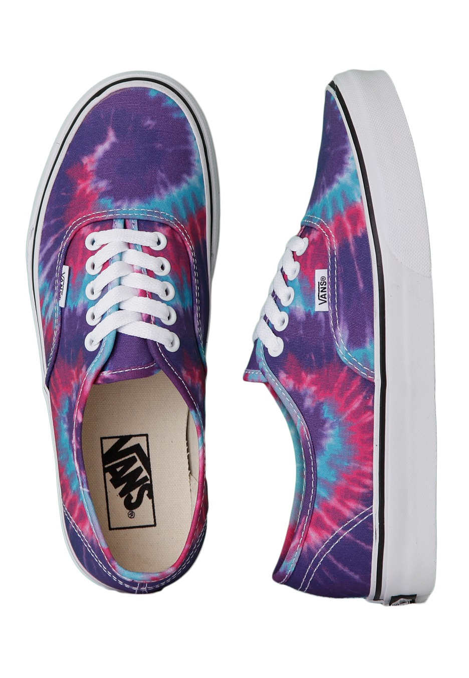Vans - Authentic Tie Dye Pink/Purple - Girl Shoes ...