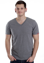 Vans - Basic Rock Grey Heather - V Neck T-Shirt