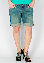 Vans - Bennie Denim Destroyed - Girl Shorts
