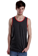 Vans - Core Basics Black Heather/Reinvent Red - Tank