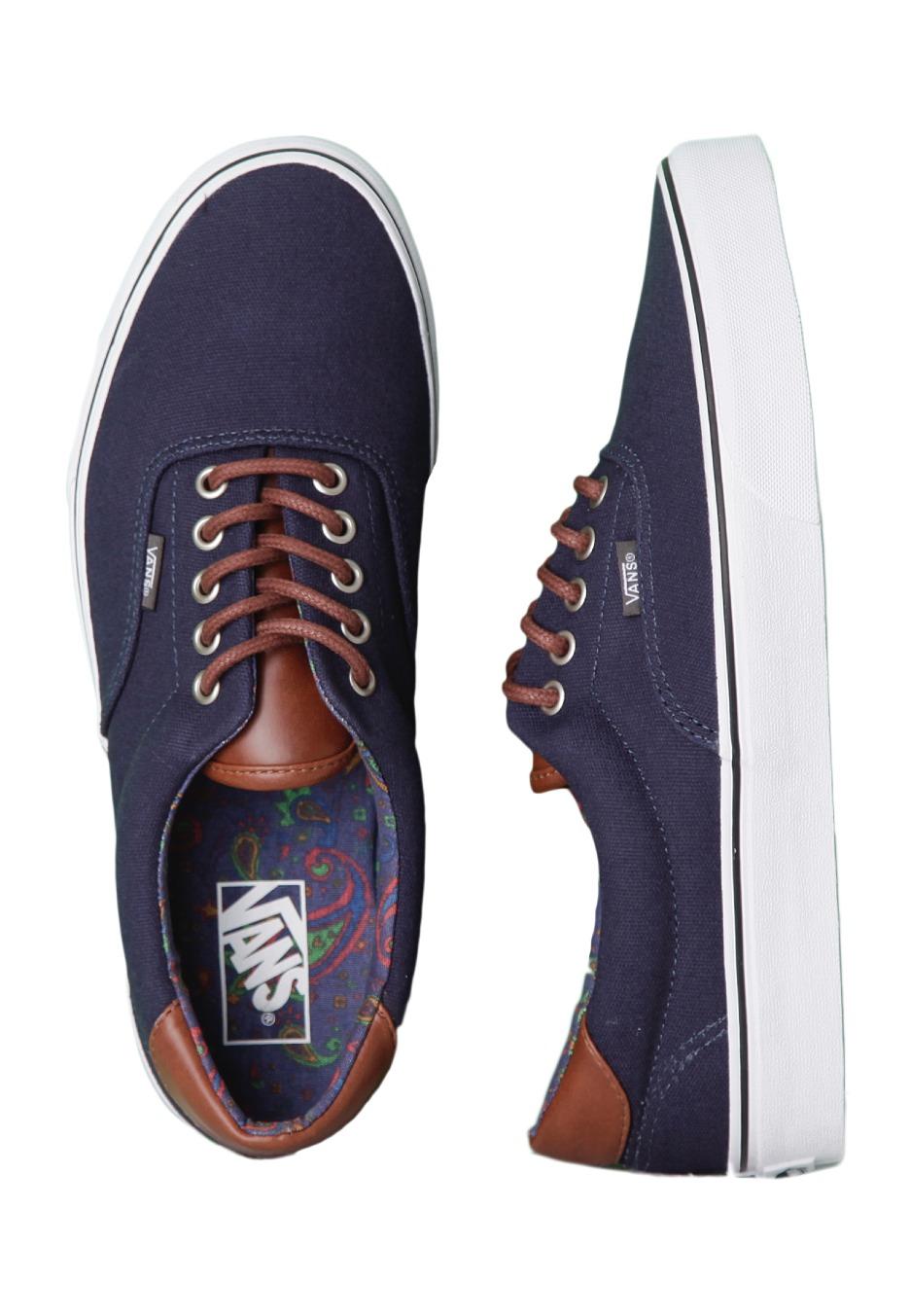 Vans - Era 59 Cu0026L Dress Blue/Paisley - Shoes - Impericon.com UK
